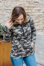 Load image into Gallery viewer, Camo and Stripes HalfZip Hoodie