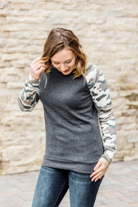 Camo Sleeve Pullover