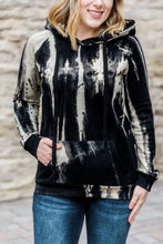 Load image into Gallery viewer, Black and Cream Hoodie