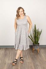 Load image into Gallery viewer, Bailey Ruffle Tank Dress - Grey Dot