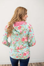 Load image into Gallery viewer, Bright Florals Half Zip Hoodie