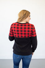 Load image into Gallery viewer, Buffalo Plaid Crew Neck | Nursing Option Available!
