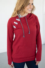 Load image into Gallery viewer, Cranberry Plaid Hoodie
