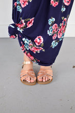 Load image into Gallery viewer, Navy Floral Maxi with Nursing Option
