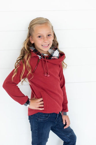 Cranberry Plaid DoubleHood™ Youth