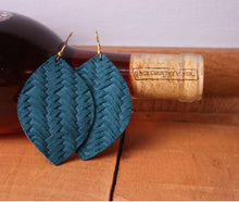 Load image into Gallery viewer, Braided Leather Earrings