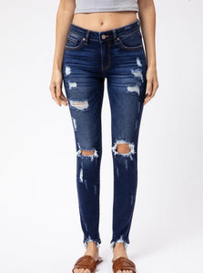 Kan Can- Emma Distressed Skinny Jeans