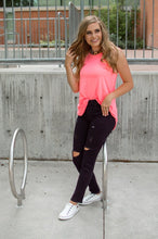 Load image into Gallery viewer, Rocker Tank | Neon Pink and Leopard