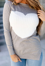 Load image into Gallery viewer, Cableknit Heart Sweater