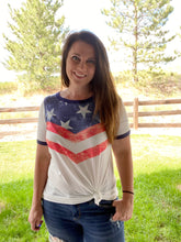 Load image into Gallery viewer, Stars and Stripes Chevron Tee