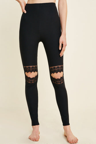 Lace Knee Leggings