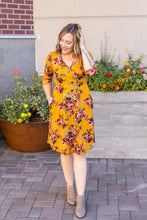 Load image into Gallery viewer, Taylor Dress - Mustard Floral