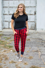 Load image into Gallery viewer, Buffalo Plaid and Polka Joggers