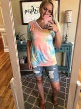 Load image into Gallery viewer, In your Dreams V-Neck Tee | Sunrise Tie Dye