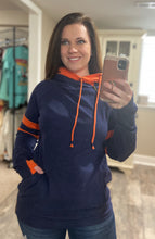 Load image into Gallery viewer, Navy and Orange Doublehood