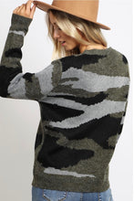 Load image into Gallery viewer, Cozy Camo Sweater