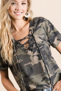 No Hiding Camo Top