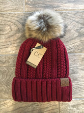 Load image into Gallery viewer, Fleece Lined C.C Beanie With Pom