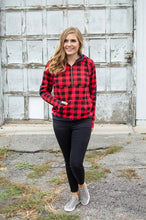 Load image into Gallery viewer, Buffalo Plaid Dot Half Zip