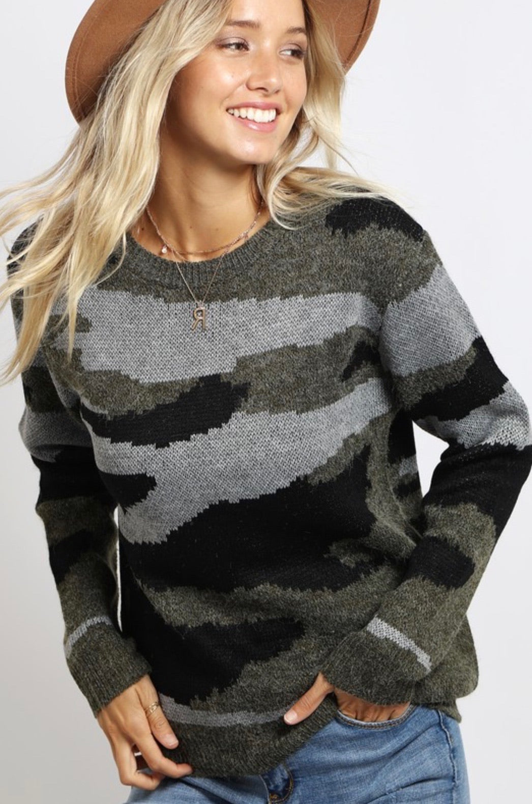 Cozy Camo Sweater