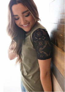 Lace Sleeved Tee