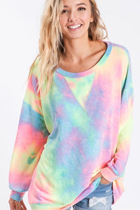 A World full of Color Tie Dye Pullover- Multiple Colors