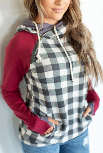 Burgundy and Gingham DoubleHood™