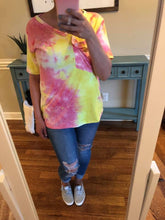 Load image into Gallery viewer, Sherbet Tie Dye Slouchy Pocket Tee