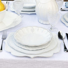 Load image into Gallery viewer, Bella Bianca Rosette Dinner Plate