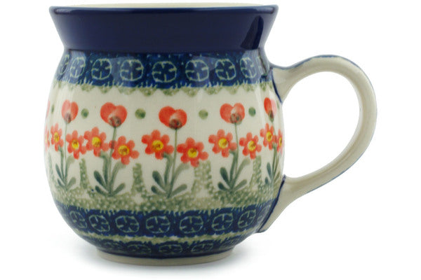Red Poppies 16 oz. Bubble Mug