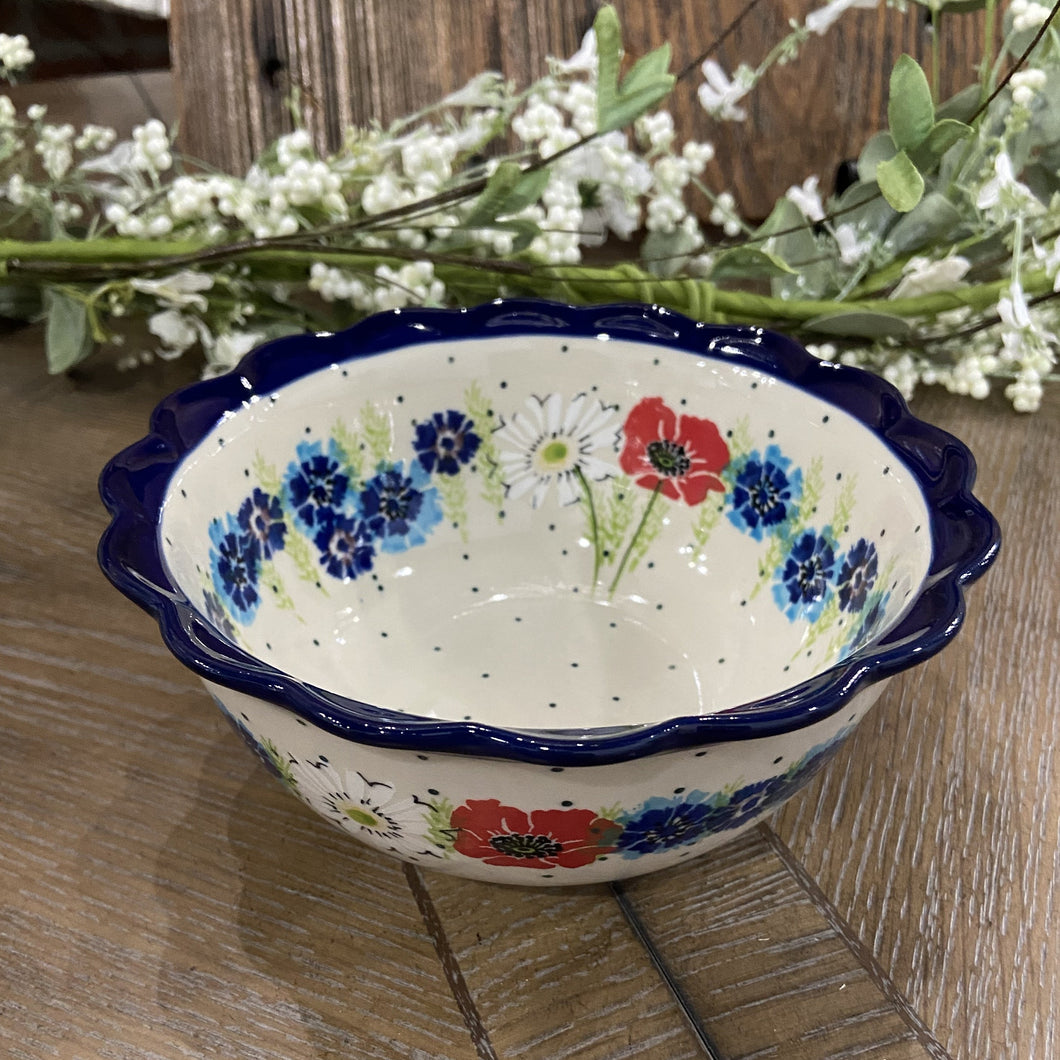 Wildflower Scalloped Edge Bowl 7