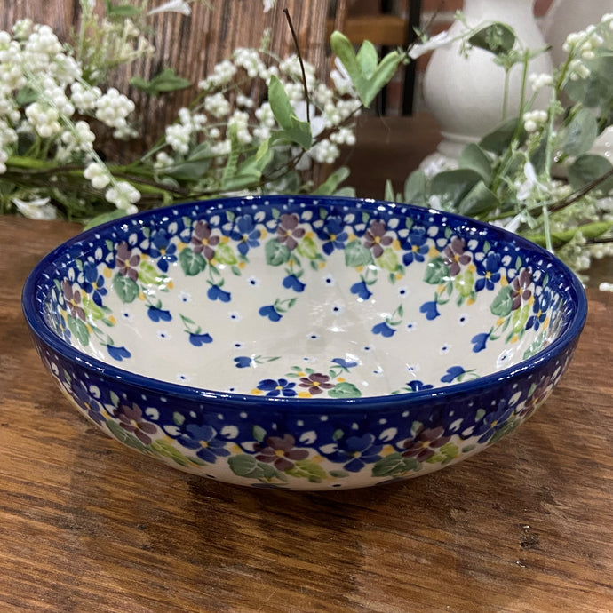 Purple Pansy Shallow Cereal Bowl 7