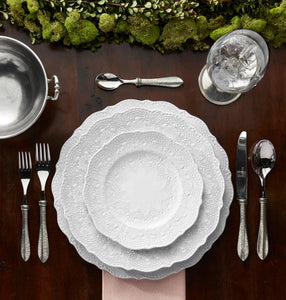 Merletto White Dinner Plate