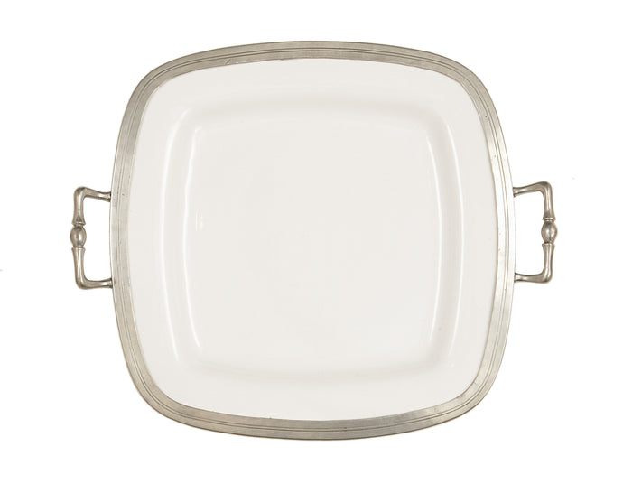 Tuscan Square Tray with Handles