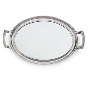 Roma Mirror Tray with Handles