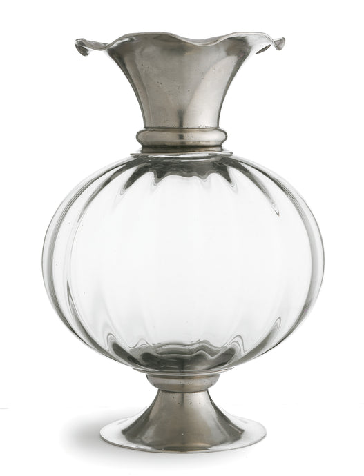 Giovanna Pewter and Crystal Vase