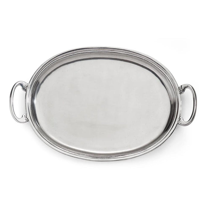 Peltro Oval Tray with Handles