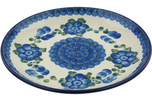 "Blue Poppies 8"" Salad/Dessert Plate"