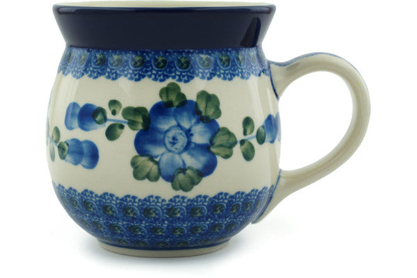 Blue Poppies 16 oz. Bubble Mug