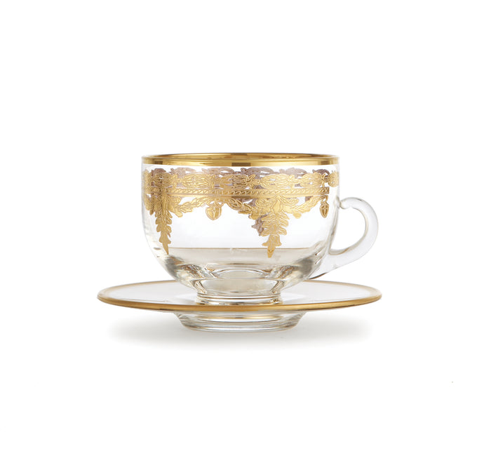 Vetro Gold Coffee Cup & Saucer