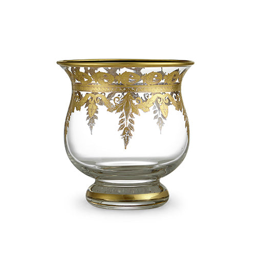 Vetro Gold Candle Holder