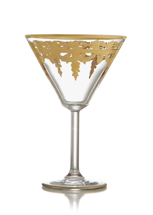 Vetro Gold Martini Glass