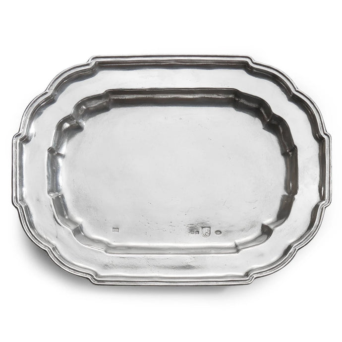 Vintage Large Oval Scalloped Tray