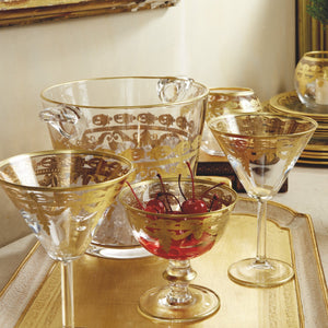 Vetro Gold Double Old Fashion Glass