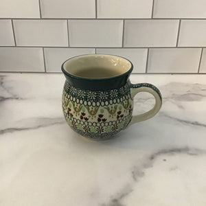 Green Ribbon 12 oz Bubble Mug