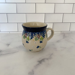 Purple Pansy Bubble Mug 12 oz