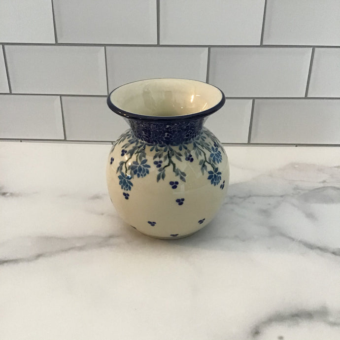 Bright Blue Bubble Vase