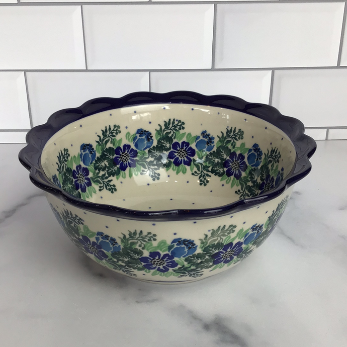 Spring Meadow Scalloped Edge Bowl 7