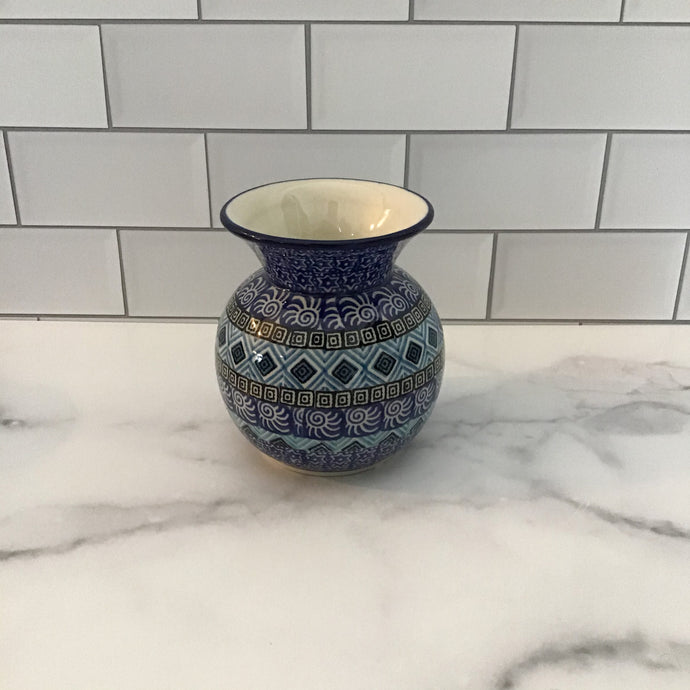 Blue Aztec Bubble Vase