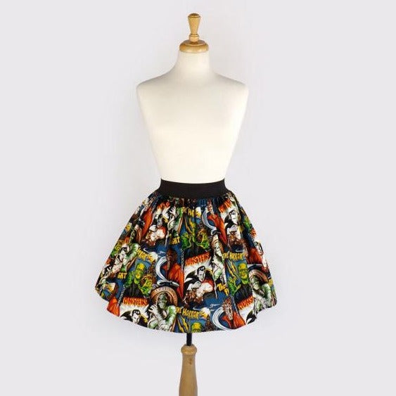 """Lindy"" Hollywood Monsters Skirt"